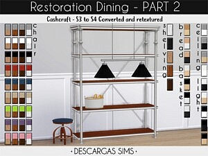 Restoration Dining sims 4 cc4