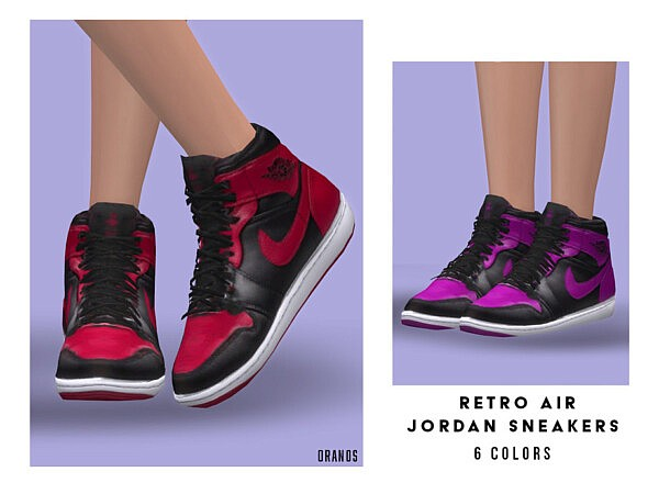 Retro Air Sneakers F sims 4 cc