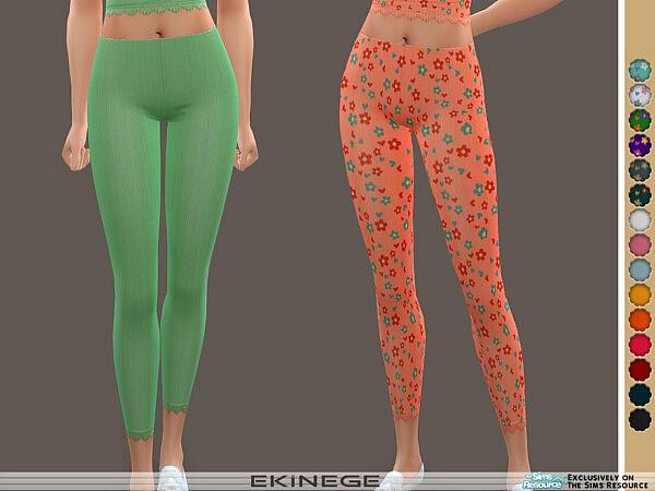 Ribbed Lace Trim Leggings sims 4 cc