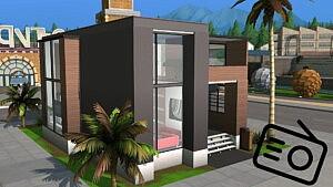 Riverside Modern Home sims 4 cc