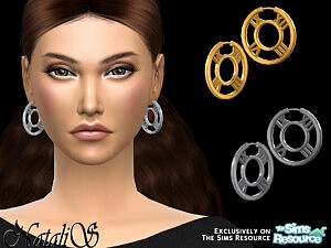 Roman numeral hoop earrings sims 4 cc