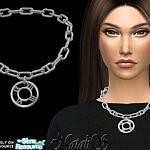 Roman numeral short necklace sims 4 cc