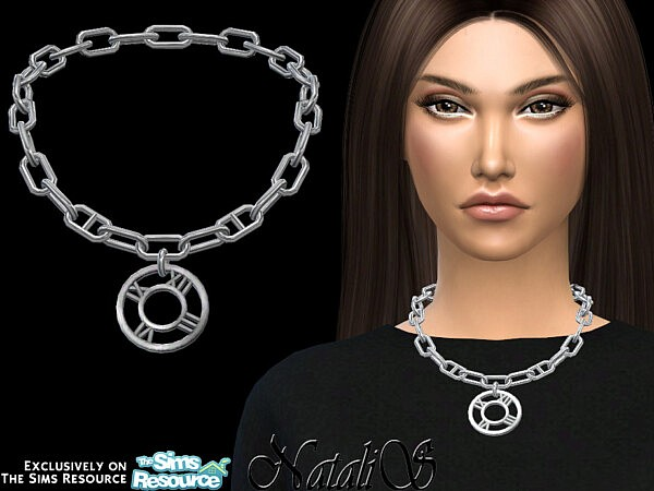 Roman numeral short necklace sims 4 cc