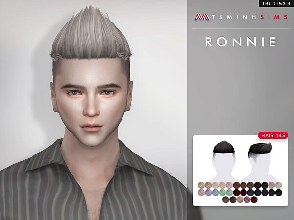 Ronnie Hair 145 sims 4 cc