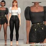 Royal Bodysuit sims 4 cc