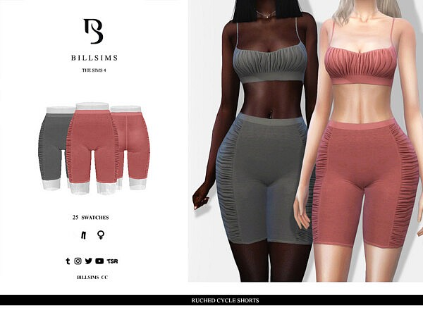 Ruched Cycle Shorts sims 4 cc