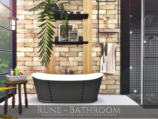 Rune Bathroom sims 4 cc