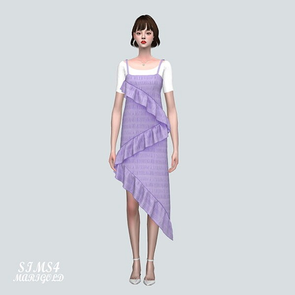 SF Bustier Dress With T shirts sims 4 cc