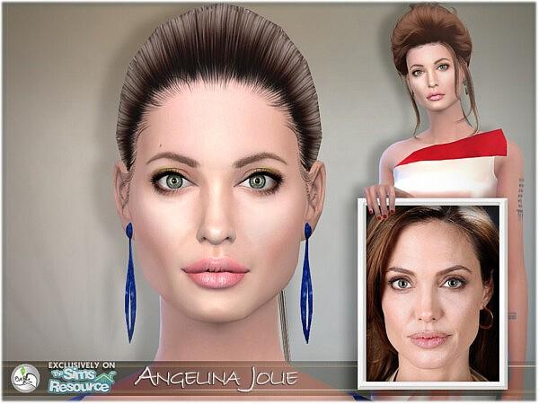 SIM Angelina Jolie sims 4 cc