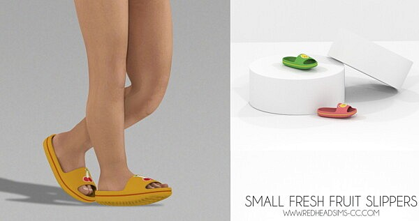 SMALL FRESH FRUIT SLIPPERS sims 4 cc