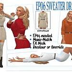 SWEATER DRESS sims 4 cc