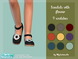 Sandals with flower sims 4 cc