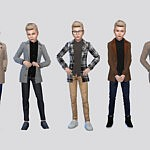 Santi Trench Coat Boys sims 4 cc