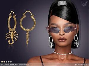 Scorpion Hoop Earrings sims 4 cc
