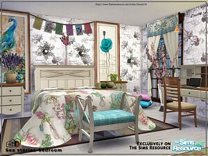 Sea stories bedroom sims 4 cc