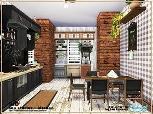 Sea stories kitchen sims 4 cc