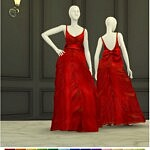 Shape With Bow Gown sims 4 cc