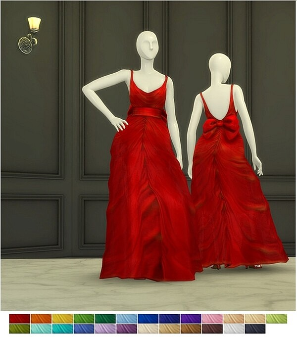 Shape With Bow Gown from Rusty Nail