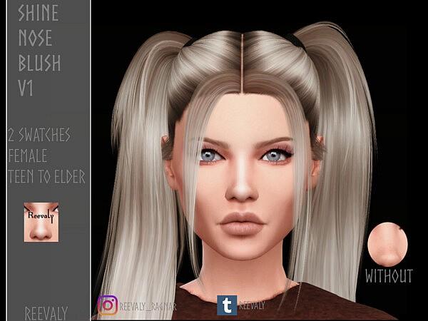 Shine Nose Blush V1 sims 4 cc