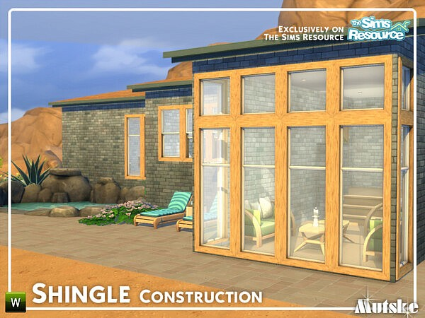 Shingle Construction Part 1 sims 4 cc