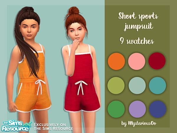 Short sports jumpsuit sims 4 cc