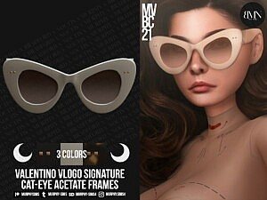 Signature Acetate Cat Eye Frames sims 4 cc