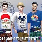 SimmieV 2021 Olympic Tourist sims 4 cc