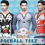SimmieV Kawaii Baseball Teez sims 4 cc