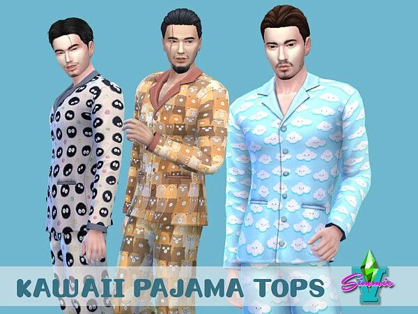 SimmieV Kawaii PJ Tops sims 4 cc