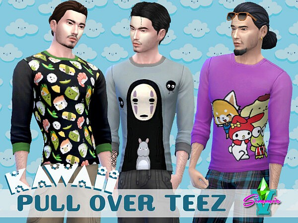 Kawaii Pull Over Tee by SimmieV from TSR