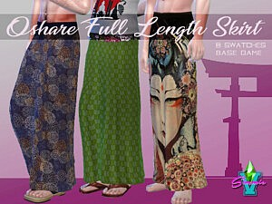 SimmieV Oshare Full Skirt sims 4 cc