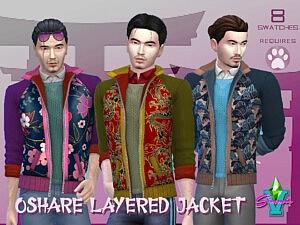 SimmieV Oshare Layered Jacket sims 4 cc
