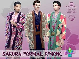 SimmieV Sakura Formal Kimono sims 4 cc