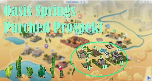 Sims 4 World Oasis Springs Parched Prospekt sims 4 cc