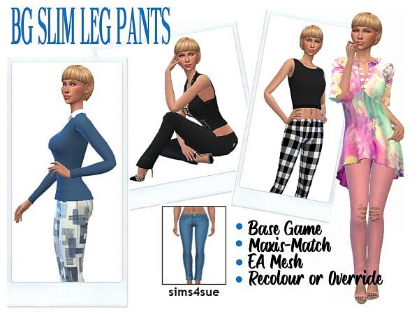 Slim Leg Jeans sims 4 cc