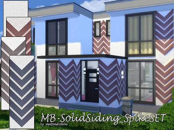 Solid Siding Spike Set sims 4 cc