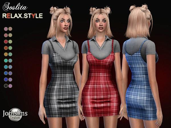 Soslita dress sims 4 cc