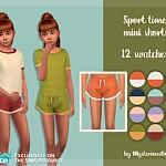 Sport time mini shorts sims 4 cc