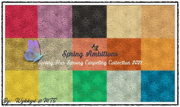 Spring Has Sprung Carpeting Collection 2021 sims 4 cc