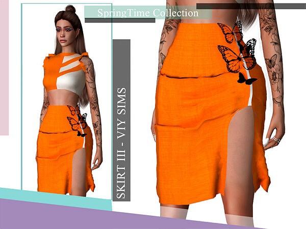 SpringTime Collection Skirt III sims 4 cc