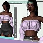 SpringTime Collection Top IV sims 4 cc