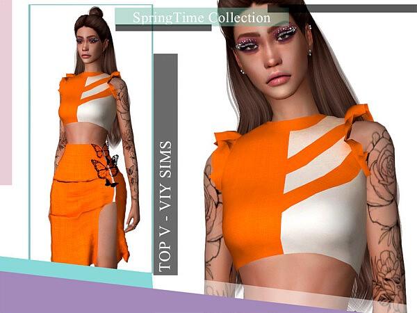 SpringTime Collection Top V sims 4 cc