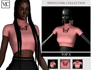 SpringTime Collection Top X sims 4 cc