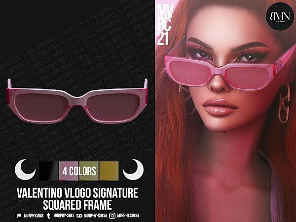 Squared Acetate Frame sims 4 cc