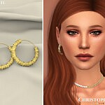 Stacked Earrings sims 4 cc