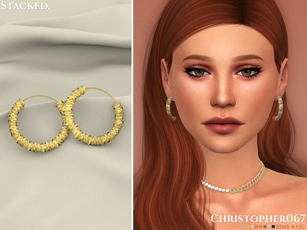 Stacked Earrings by Christopher067 from TSR