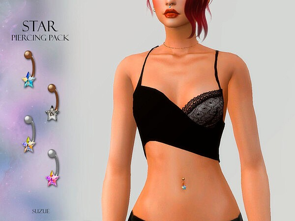 Star Belly Piercing Set by Suzue from TSR