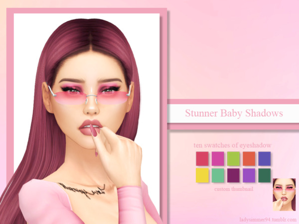 Stunner Baby Shadows sims 4 cc