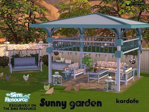 Sunny garden sims 4 cc