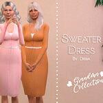 Sweater Dress sims 4 cc 1